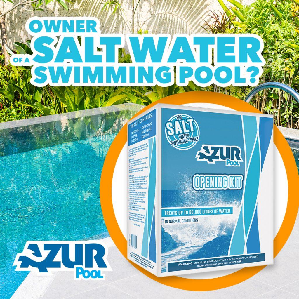 Salt water swimming pool owner